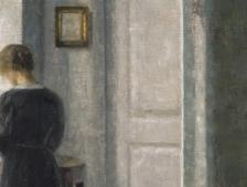 Vilhelm Hammershoi (1864-1916), Intérieur avec une femme debout huile sur toile, 67,5 x 54,3 cm Ambassador John L. Loeb Jr. Danish Art Collection © TX0006154704, registered March 22, 2005