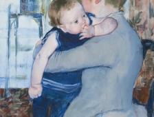 Baby in Dark Blue Suit, Looking Over His Mother's Shoulder, Circa 1889, © Cincinnati Art Museum