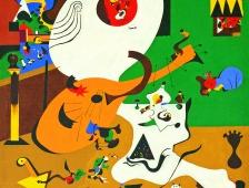Joan Miró, Intérieur hollandais (I) 1928 huile sur toile, 91,8 x 73 cm, États-Unis, New York, The Museum of Modern Art, Mrs. Simon Guggenheim Fund, 1945, ©Successió Miró / Adagp, Paris 2018, Photo Successió Miró Archive