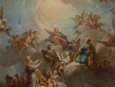 François Lemoine, La Vierge en gloire (pour la voûte de Chapelle de la Vierge), 1732. Huile sur toile (esquisse). Église de Saint-Sulpice, COARC, Paris © Ville de Paris – COARC – Claire Pignol