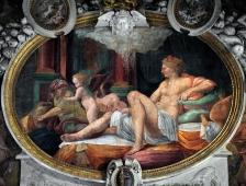 Danaé visitée par Zeus dissimulé en pluie d'or - par Le Primatice